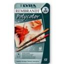 LYRA REMBRANDT POLYCOLOR  caja metal 12